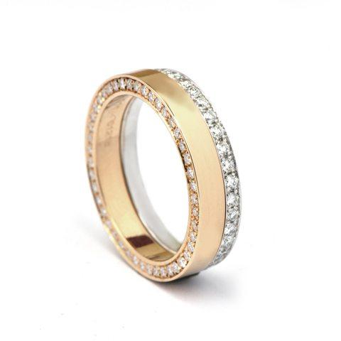Swedish Set Diamond Ring 18ct Gold