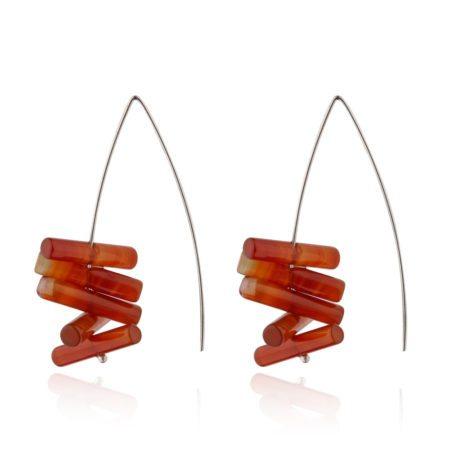 Carnelian dramatic drop earrings