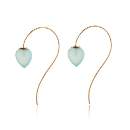 Nuppu earrings with chalcedony