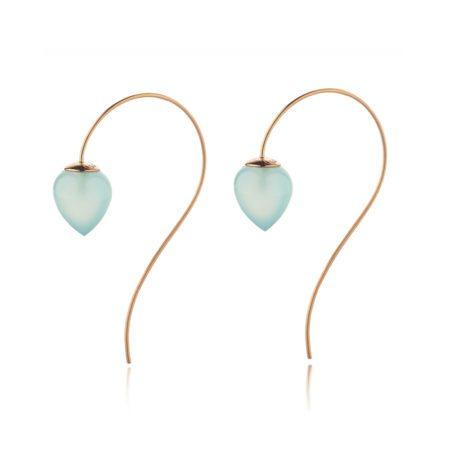 Nuppu earrings with chalcedony