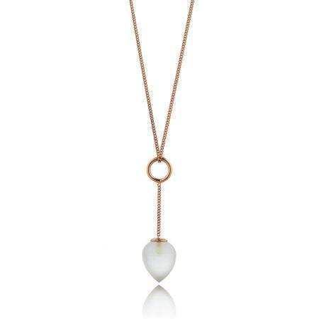 Nuppu pendant with quartz