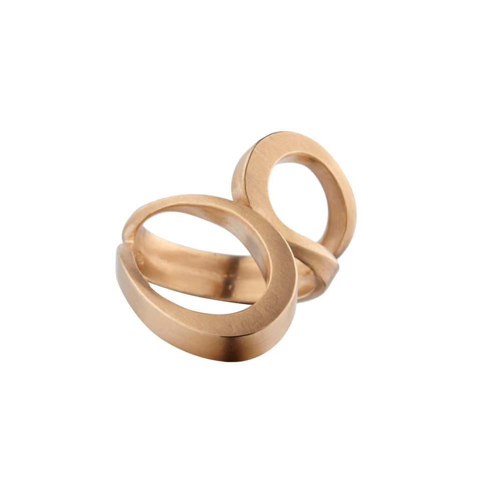 Rose gold tuohi III ring