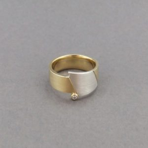 Silver and Gold Eclipse ring
