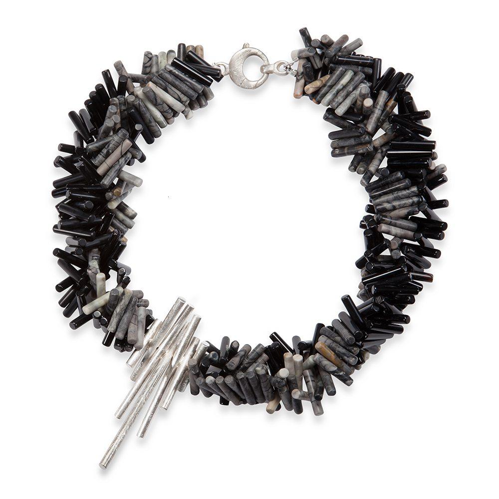 Triple strand rhapsody necklace