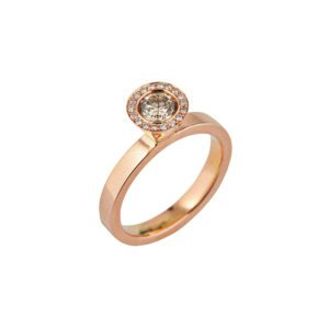 Aurora rose gold diamond Engagement Ring