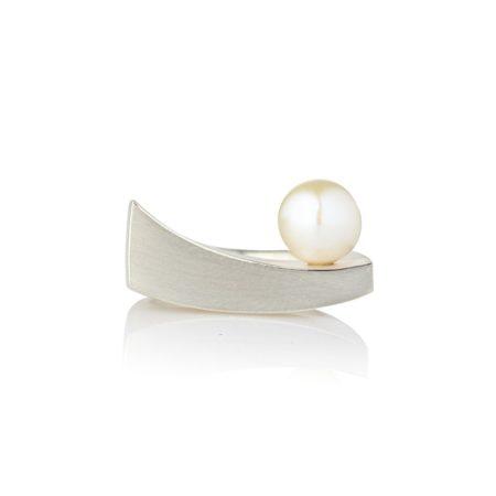 Balance ring silver - pearl - 3