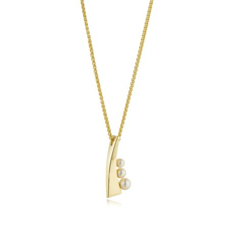 Balance small pendant - gold (1)