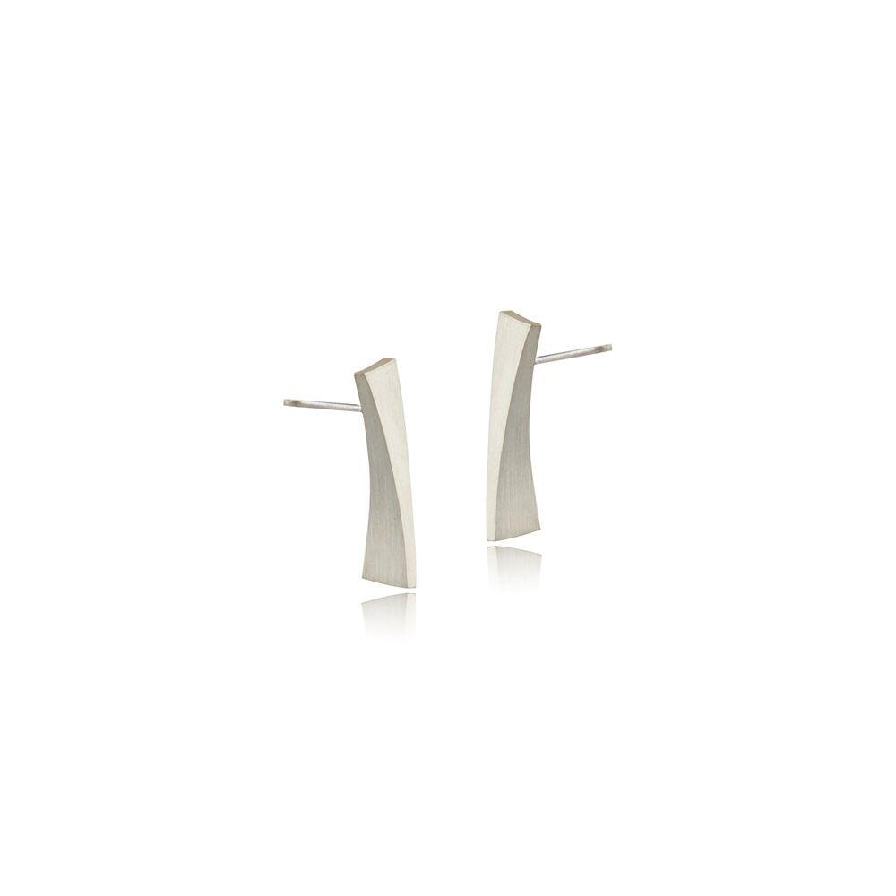 Balance stud earrings - silver