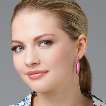 Blush tulip earrings