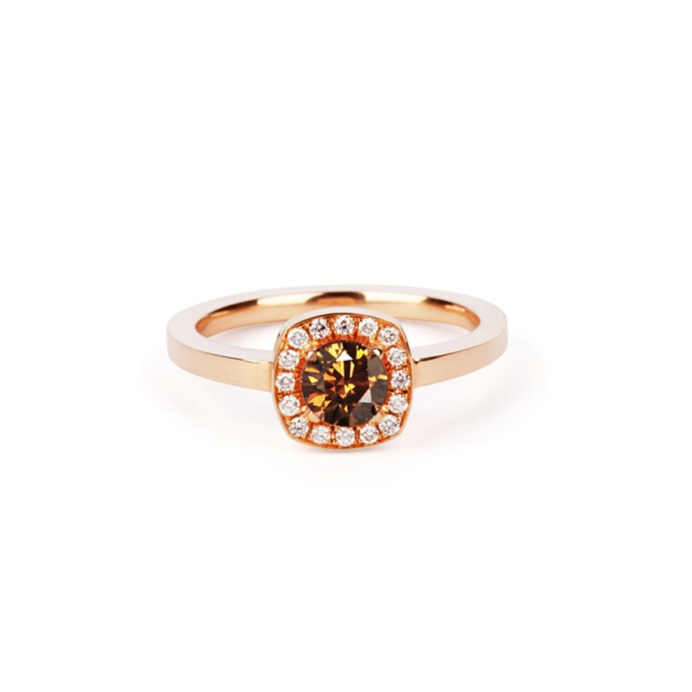 Chocolate diamond rose gold emelie ring