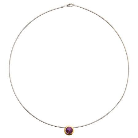Silver amethyst statement cocktail necklace