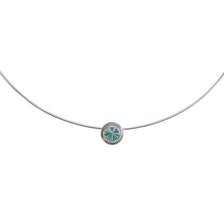 Cocktail pendant - blue topaz - detail