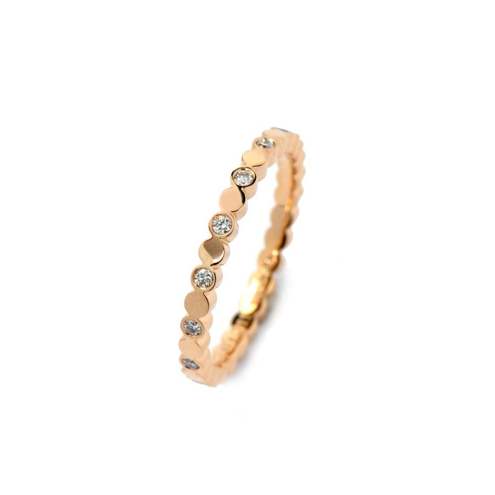 Diamond juliet dotted ring