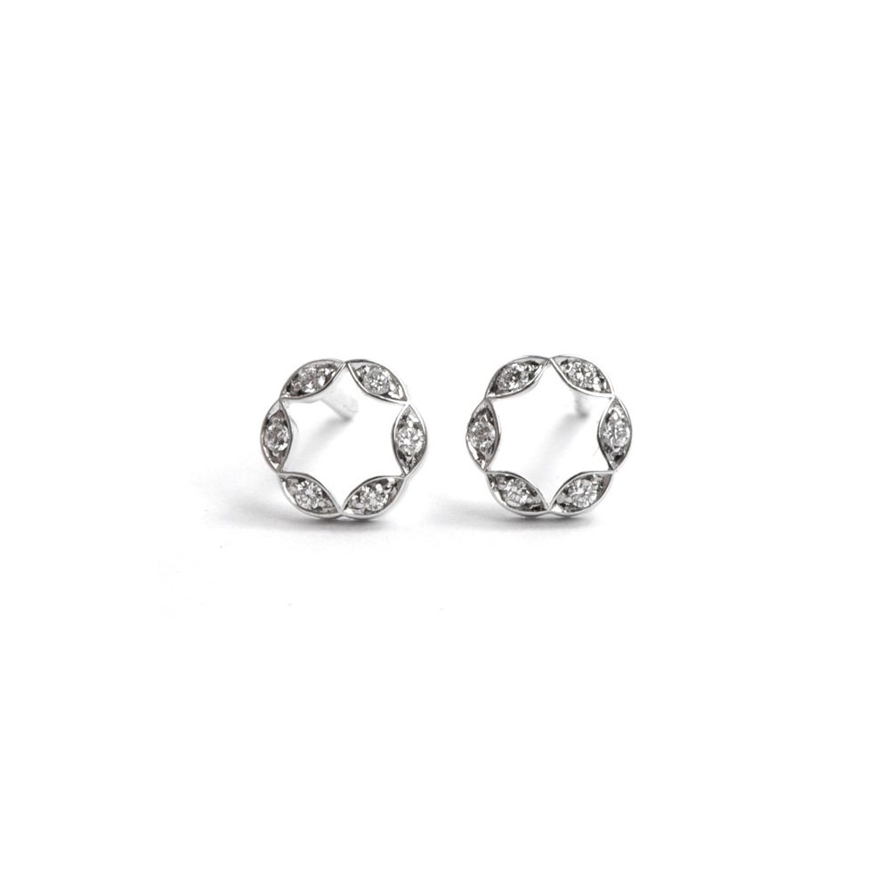 Diamond juliet earrings