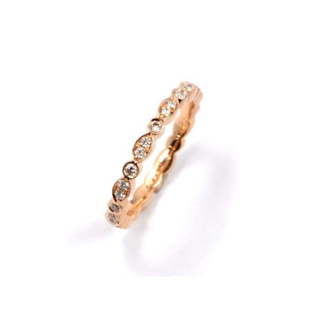 Diamond juliet ring rose gold