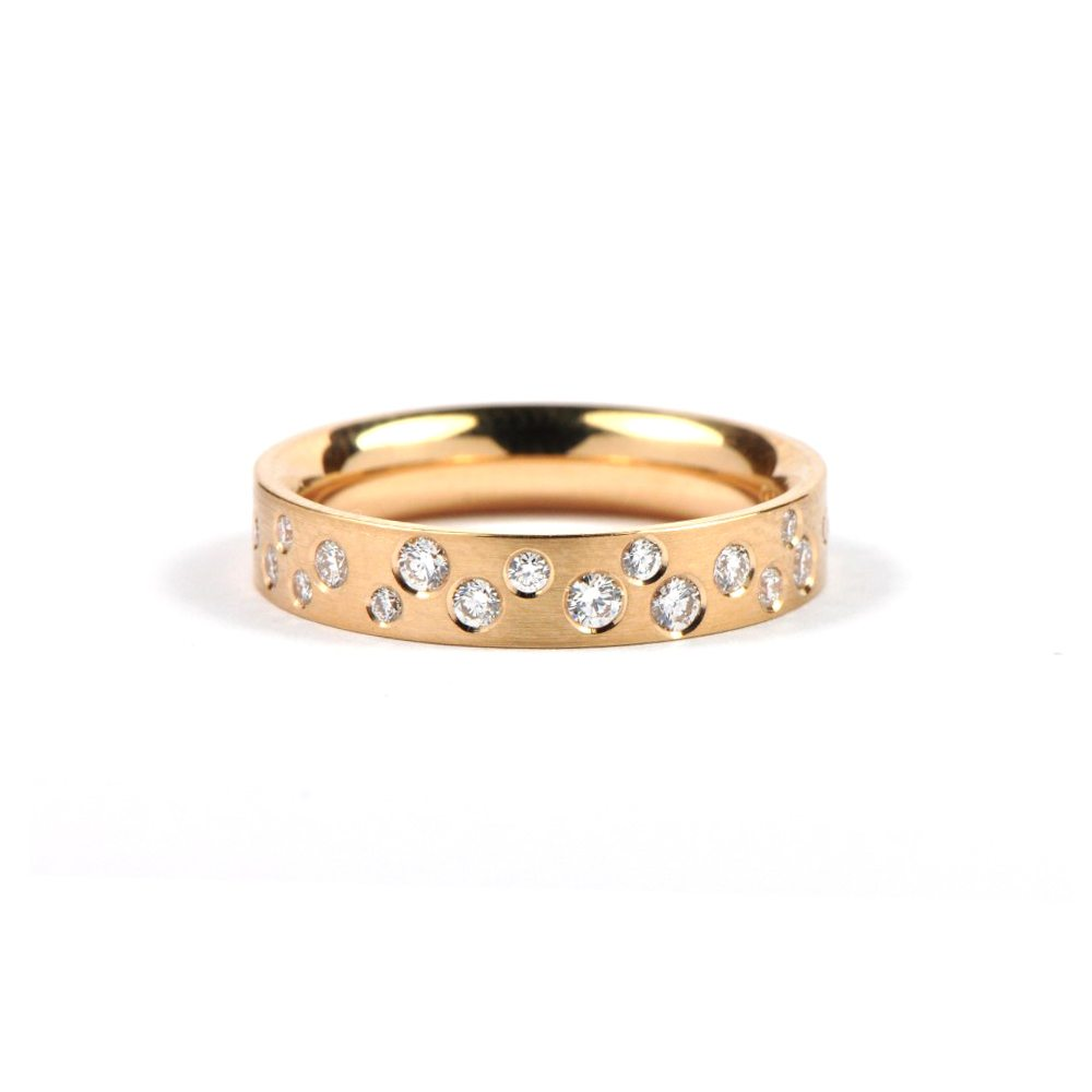 Diamond polkadot ring - rose gold