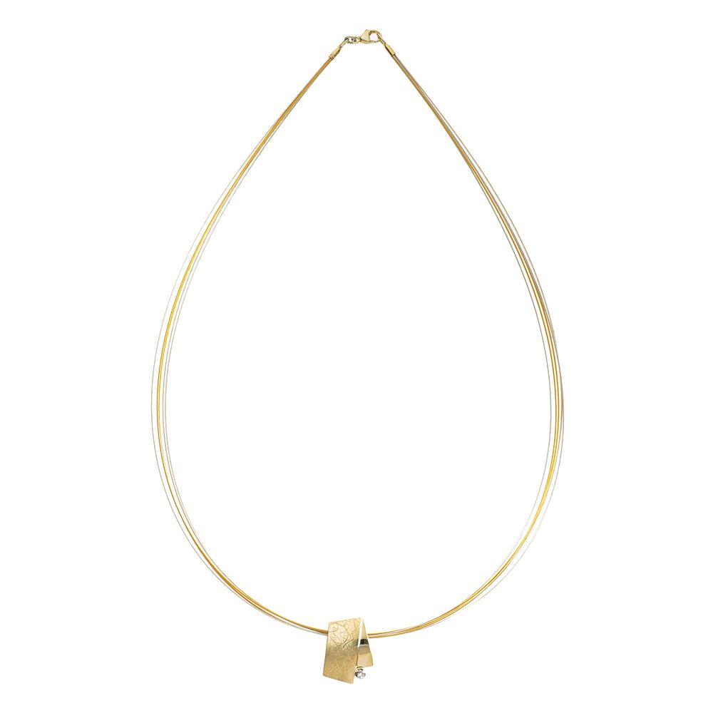 Eclipse small pendant - gold
