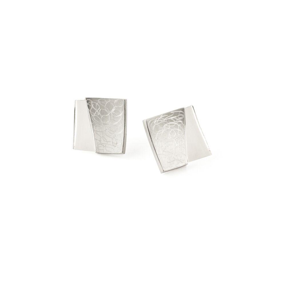 Eclipse stud earrings - silver