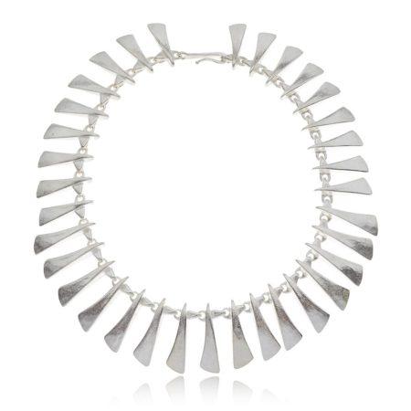 Flow silver large neckpiece