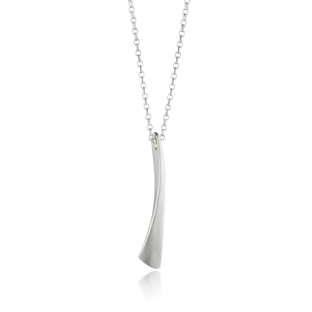 Flow silver long pendant