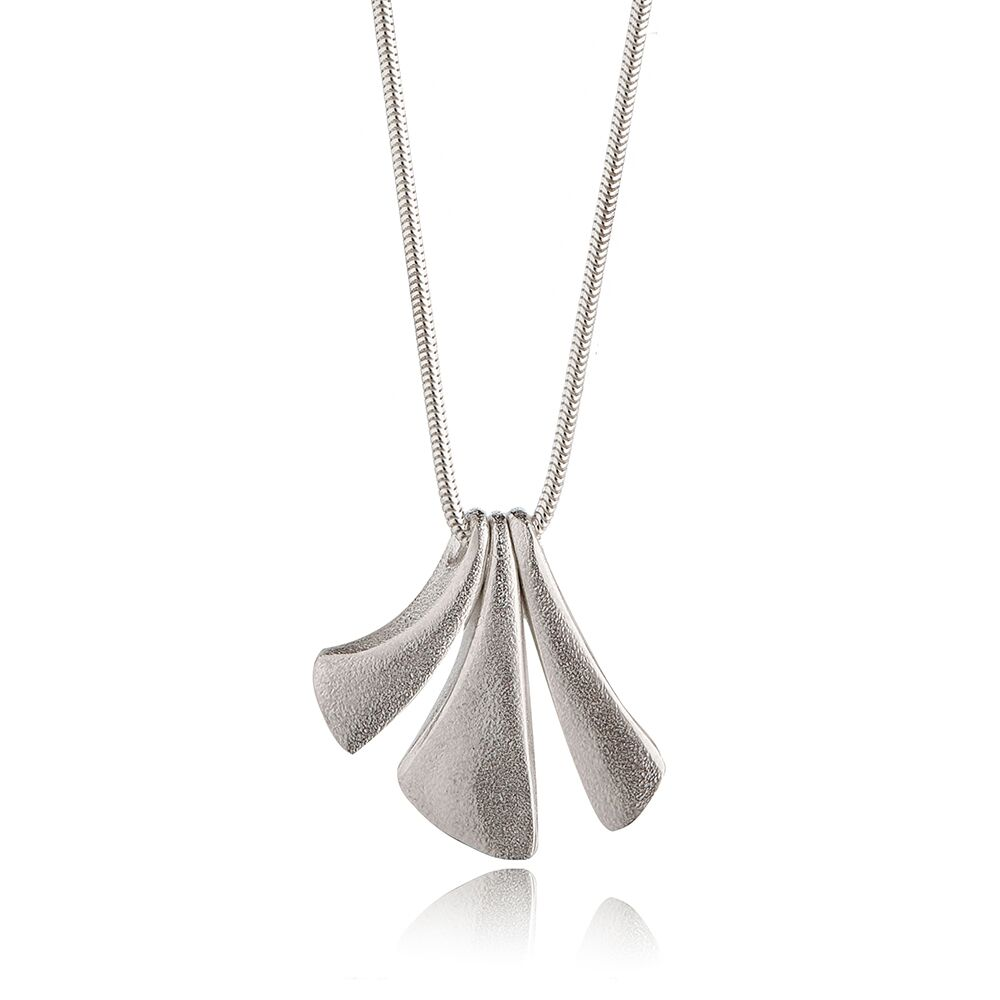 Flow silver small pendant