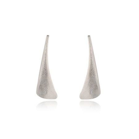 Flow silver stud earrings