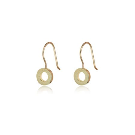 small Gold hoop drop earrings