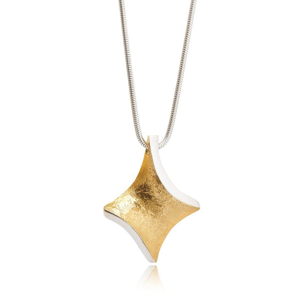 Golden-twist-small-pendant