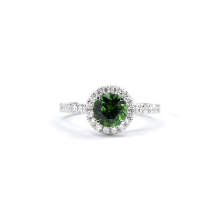 Green tourmaline florence ring