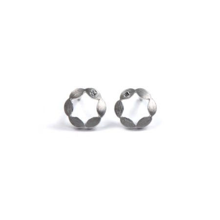Juliet earrings single diamond - white gold