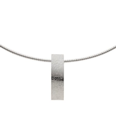 Long textured pendant detail