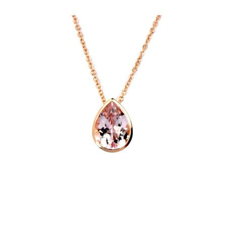 Morganite drop pendant
