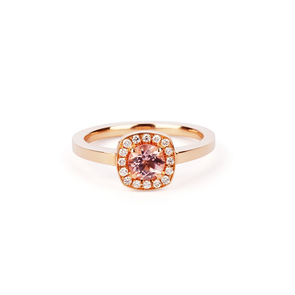 Morganite emelie ring