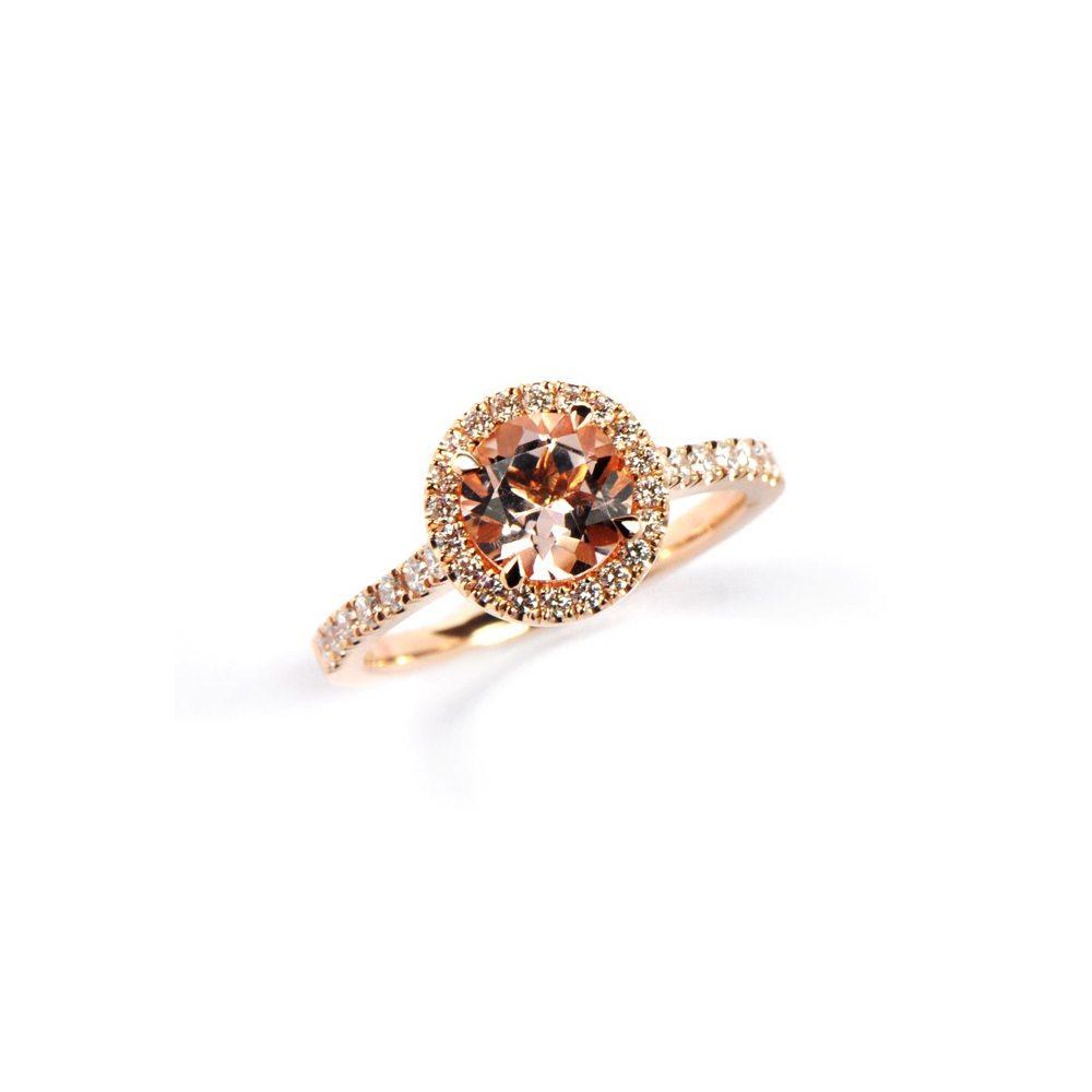 Morganite florence ring