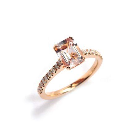 Morganite roseanne ring