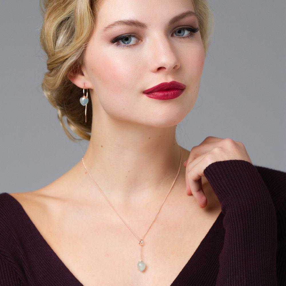 Nuppu pendant and earrings