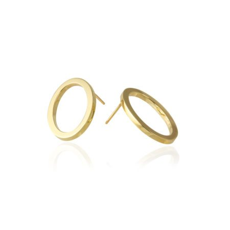 Oval earrings - large gold