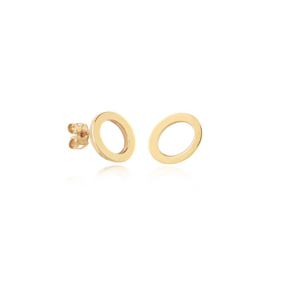 Oval earrings - small gold 2