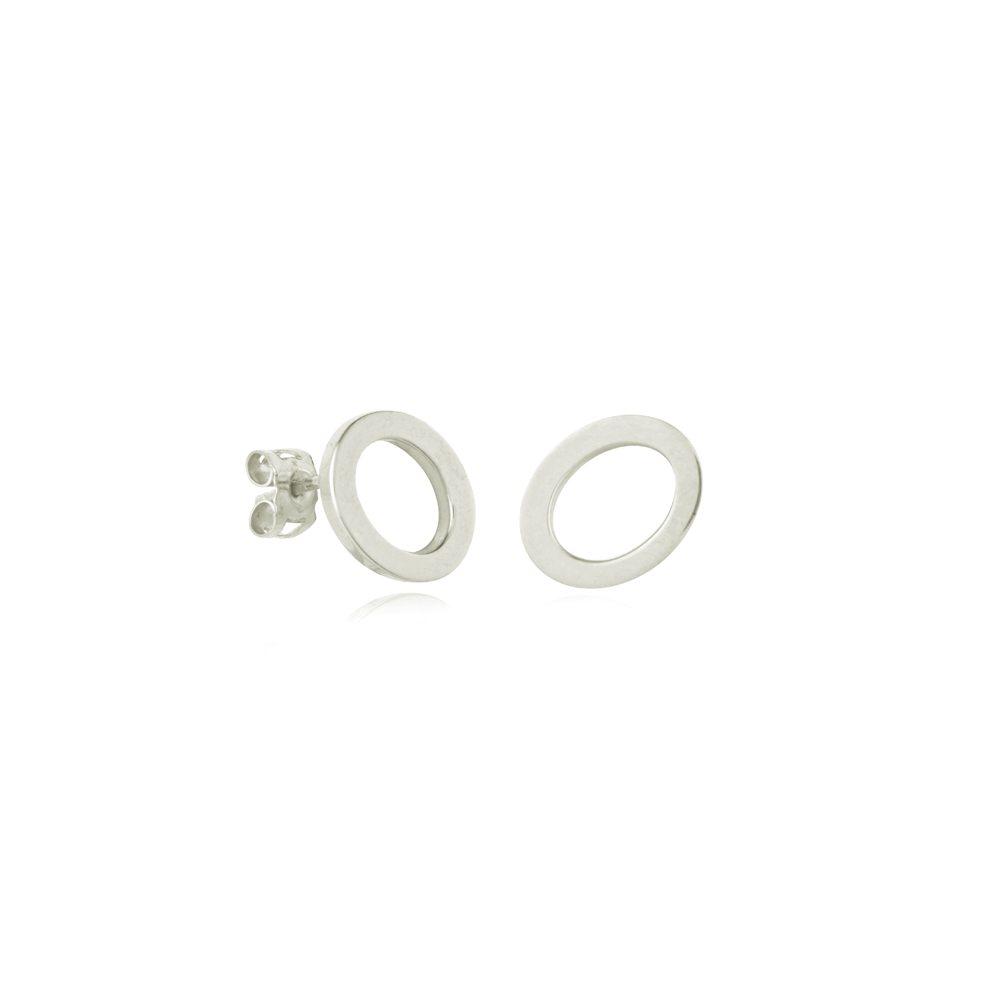 Oval earrings - small silver
