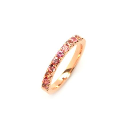 Pink sapphire castel ring