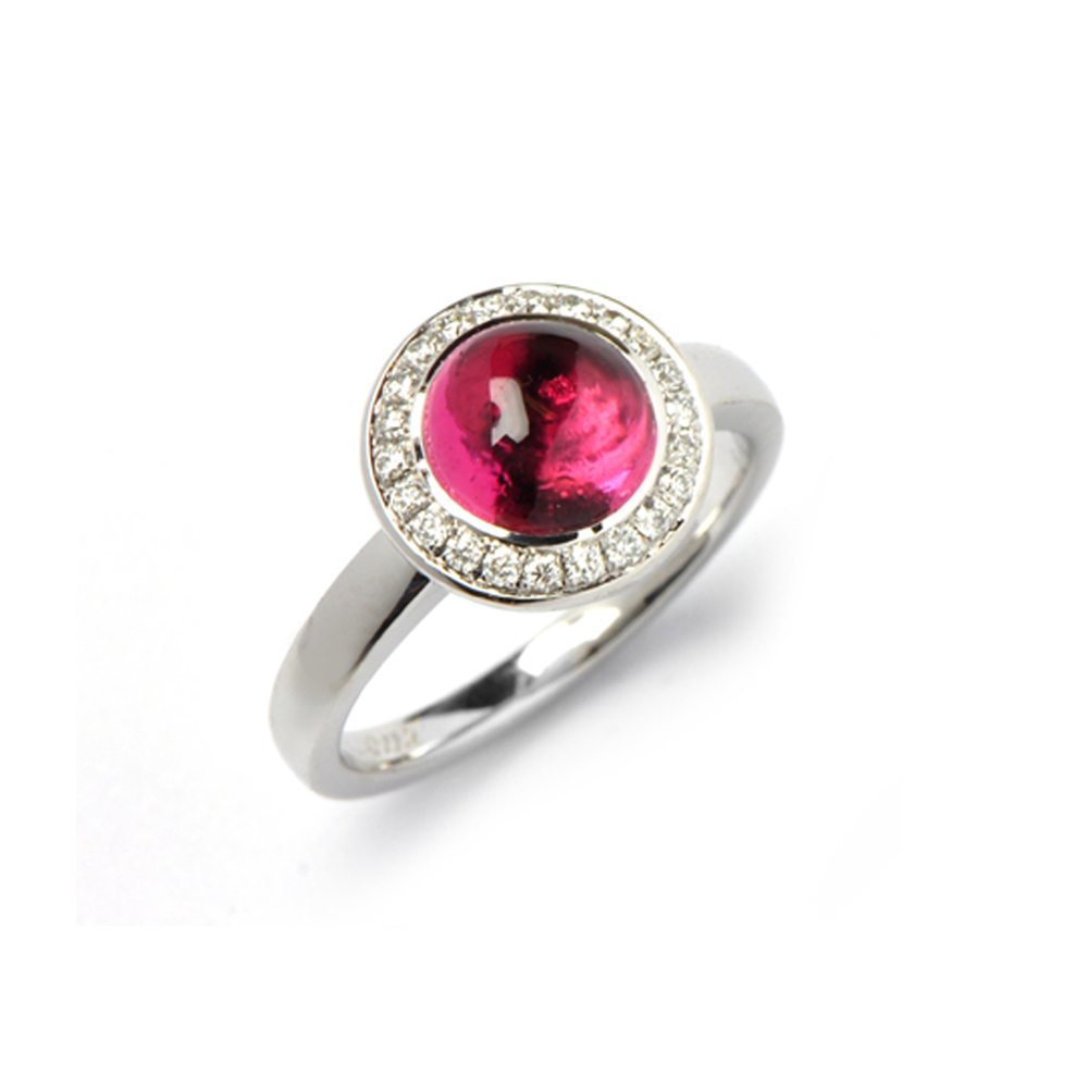 Pink tourmaline nectar ring