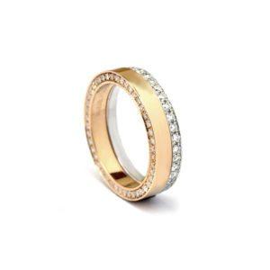 Swedish ring with diamond band