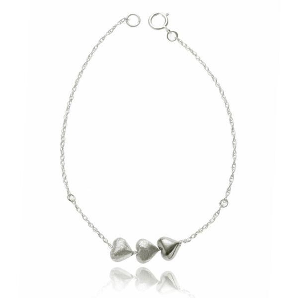 Tiny hearts bracelet - silver