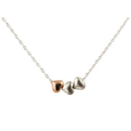 Tiny hearts necklace - rose gold