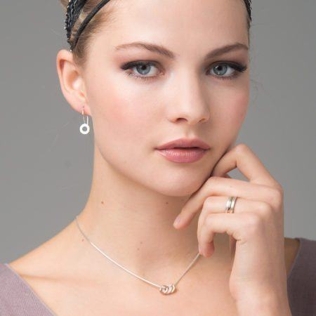 Trio collection - silver and rose gold
