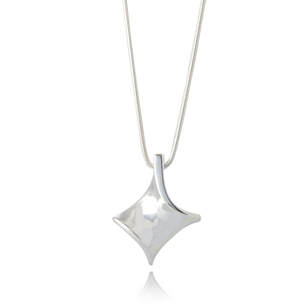 Twist silver small pendant