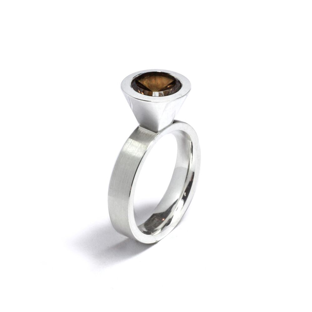 Cocktail ring - smoky quartz