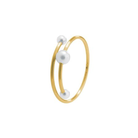 Fine gold and pearl ring