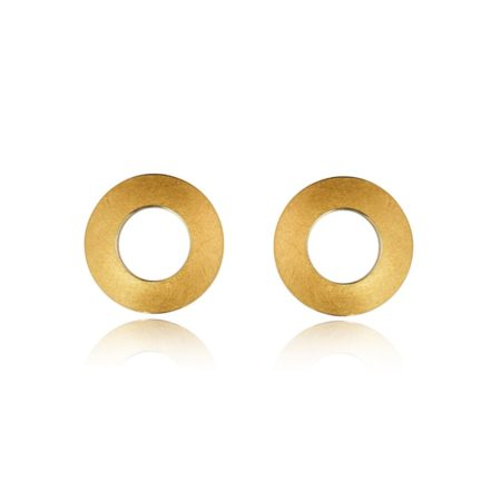Fine gold disc earrings (1)