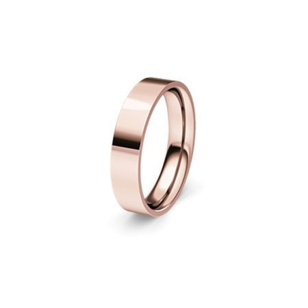 Flat rose gold band